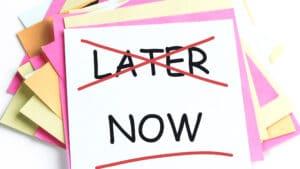 Verschiebe dein Leben nicht auf später